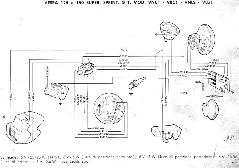 Impianto Elettrico Vespa Pk Xl : Schemi elettrici