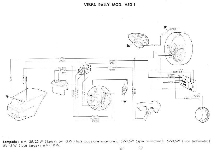 Schema Elettrico Vespa Pk 50 Xl : Schema impianto elettrico vespa pk xl rush fare di