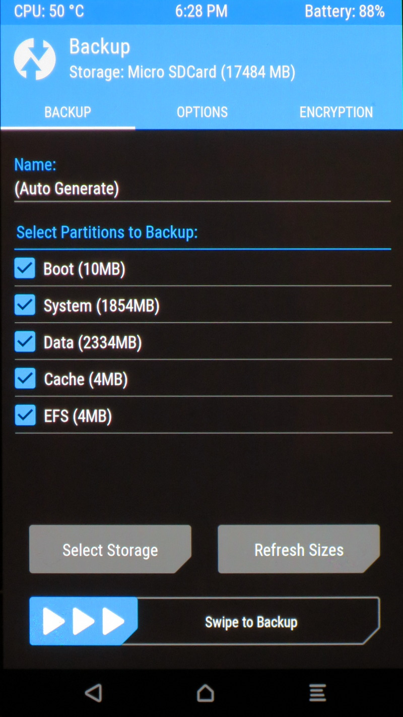 Twrp backup firmware