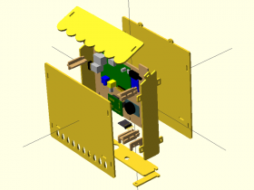 Exploded view of the case in OpenSCAD