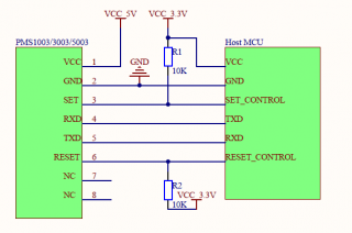 PMS1003/3003/5003 Typical circuit connection