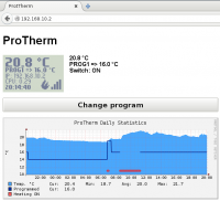 ProTherm web interface